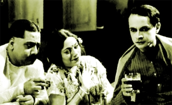 P.C.Barua-on-the-right-in-Bangla-Movie-Devdas