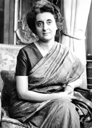 Portrait of India Prime Minister Mrs Indira Gandhi, 1966. (no credit)