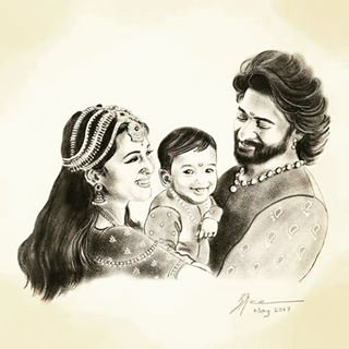 Image result for bahubali baby drawing