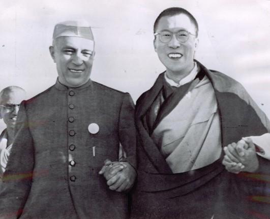 Image result for nehru dalai lama
