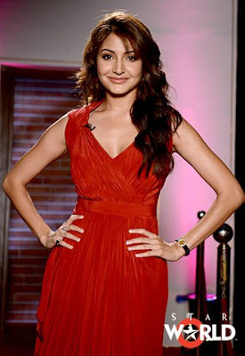 Image result for anushka sharma red dress