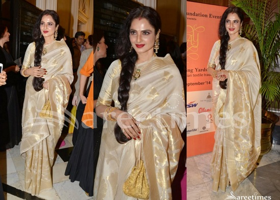 Image result for rekha saree