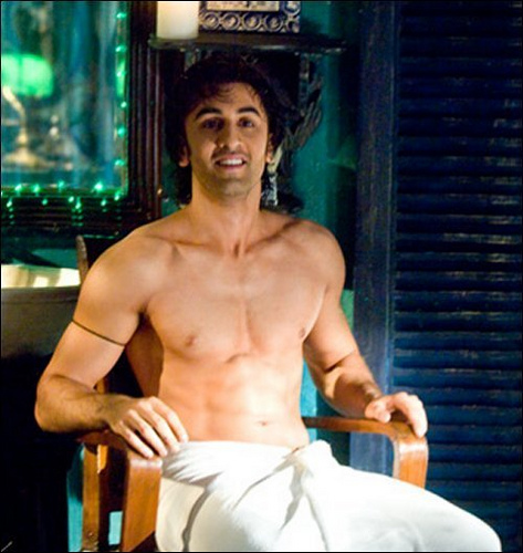 Image result for ranbir dhoti shirtless
