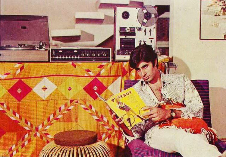 Amitabh Bachchan reading Playboy. RIP HughHefner. | by ...