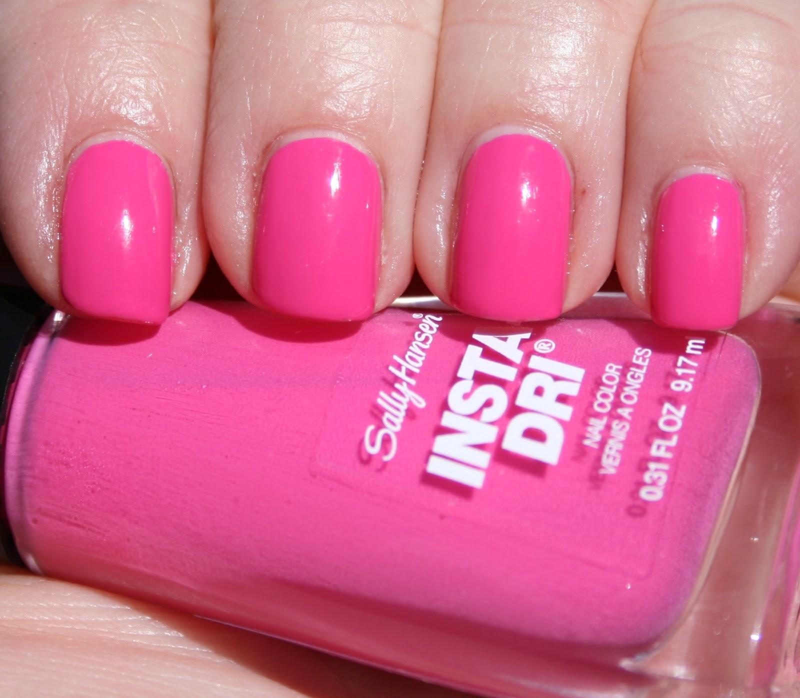 Sasha Says Nails... I'm a Manicure Momma: Sally Hansen Insta-Dri in Peppy  Le Fuchsia